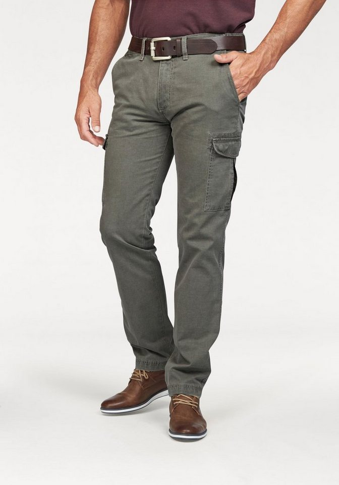 Pionier Jeans & Casuals Cargohose mit seitlichem Dehnbund in khaki