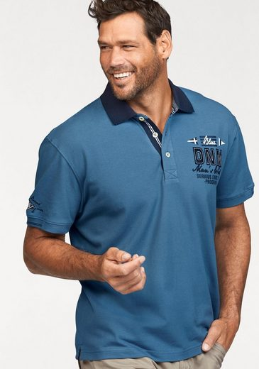Man's World Poloshirt, in Piqué-Qualität mit Kontrastkragen