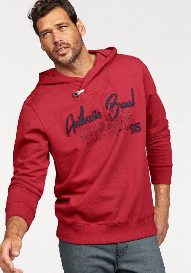 Man's World Kapuzensweatshirt in rot