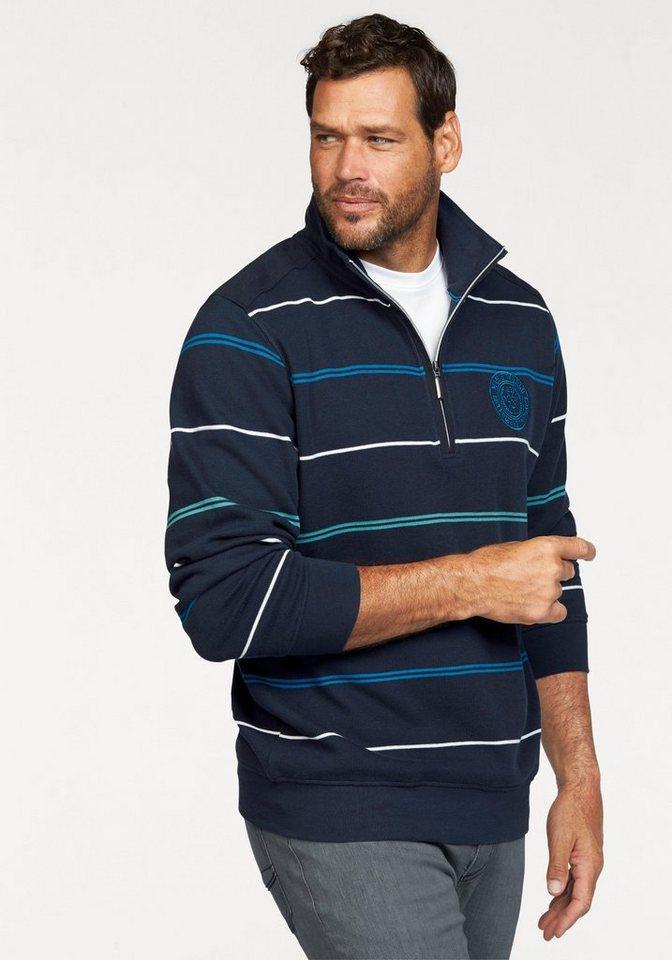 Man's World Sweatshirt in blau-weiß-türkis
