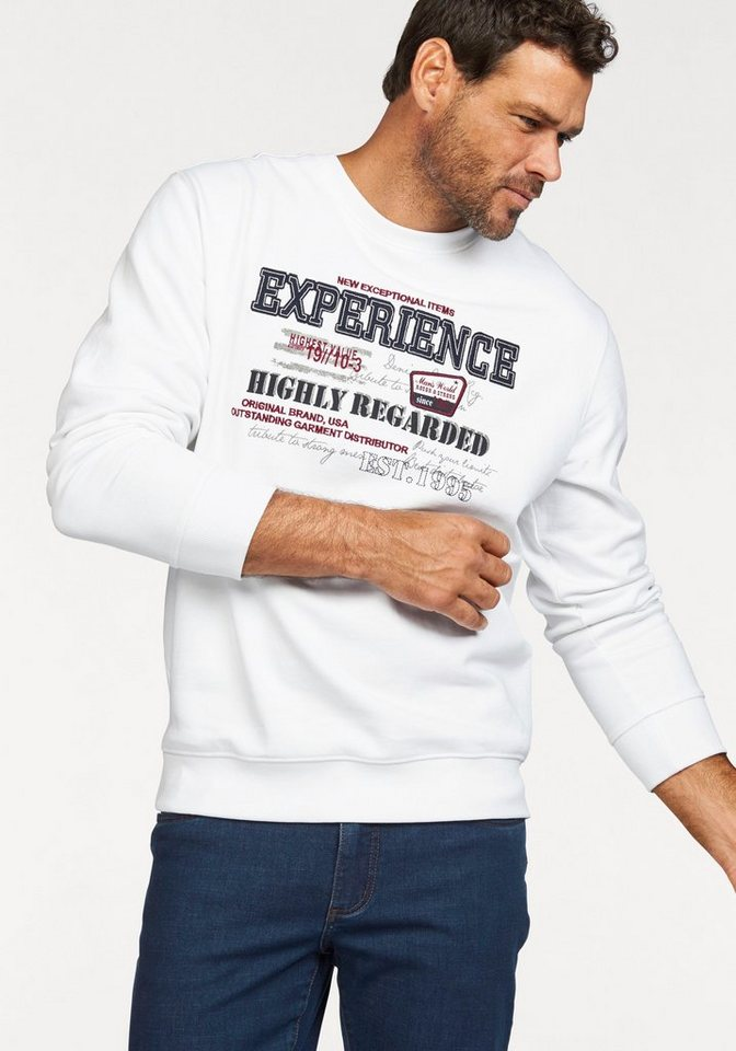 Man's World Sweatshirt in weiß