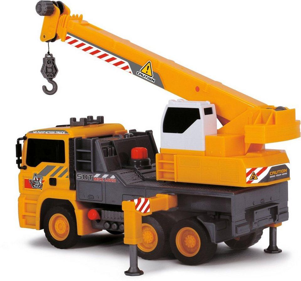 Dickie Spielzeug LKW, »Air Pump Mobile Crane« in gelb/grau