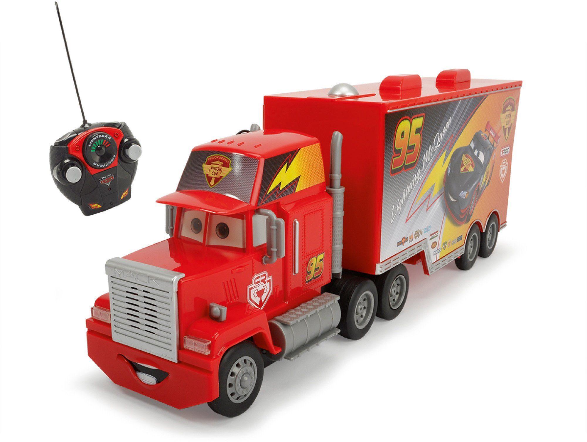 Dickie Toys RC Truck mit Licht und Sound, »Disney Pixar Cars, RC Carbon Turbo Mack Truck 27 MHz 1:24«