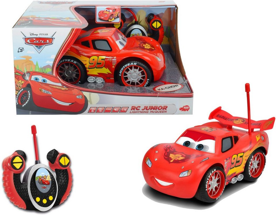 Dickie Toys RC Auto mit Sound, »Cars, Junior Lightning McQueen 27 MHz 1:16«