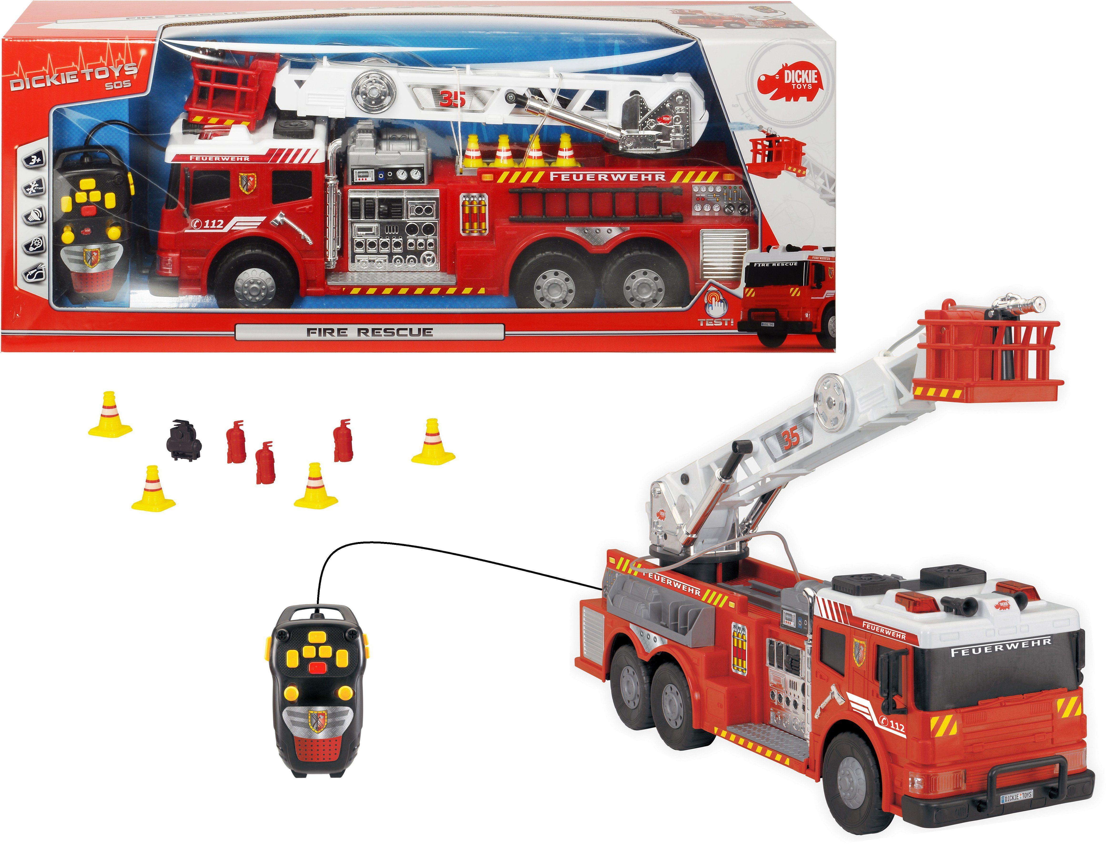 Dickie Toys Kabelgesteuertes Feuerwehrauto mit Wasserspritze, »Fire Rescue«