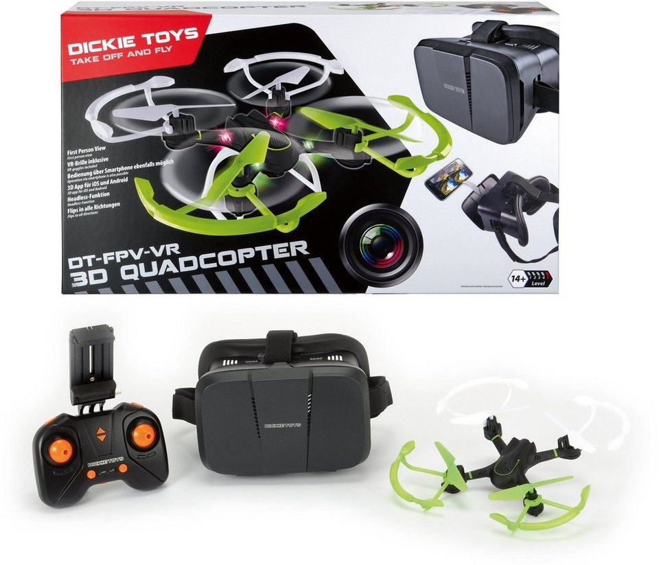 Dickie Toys RC Quadrocopter mit Virtual Reality Funktion, »FPV-VR Quadrocopter«