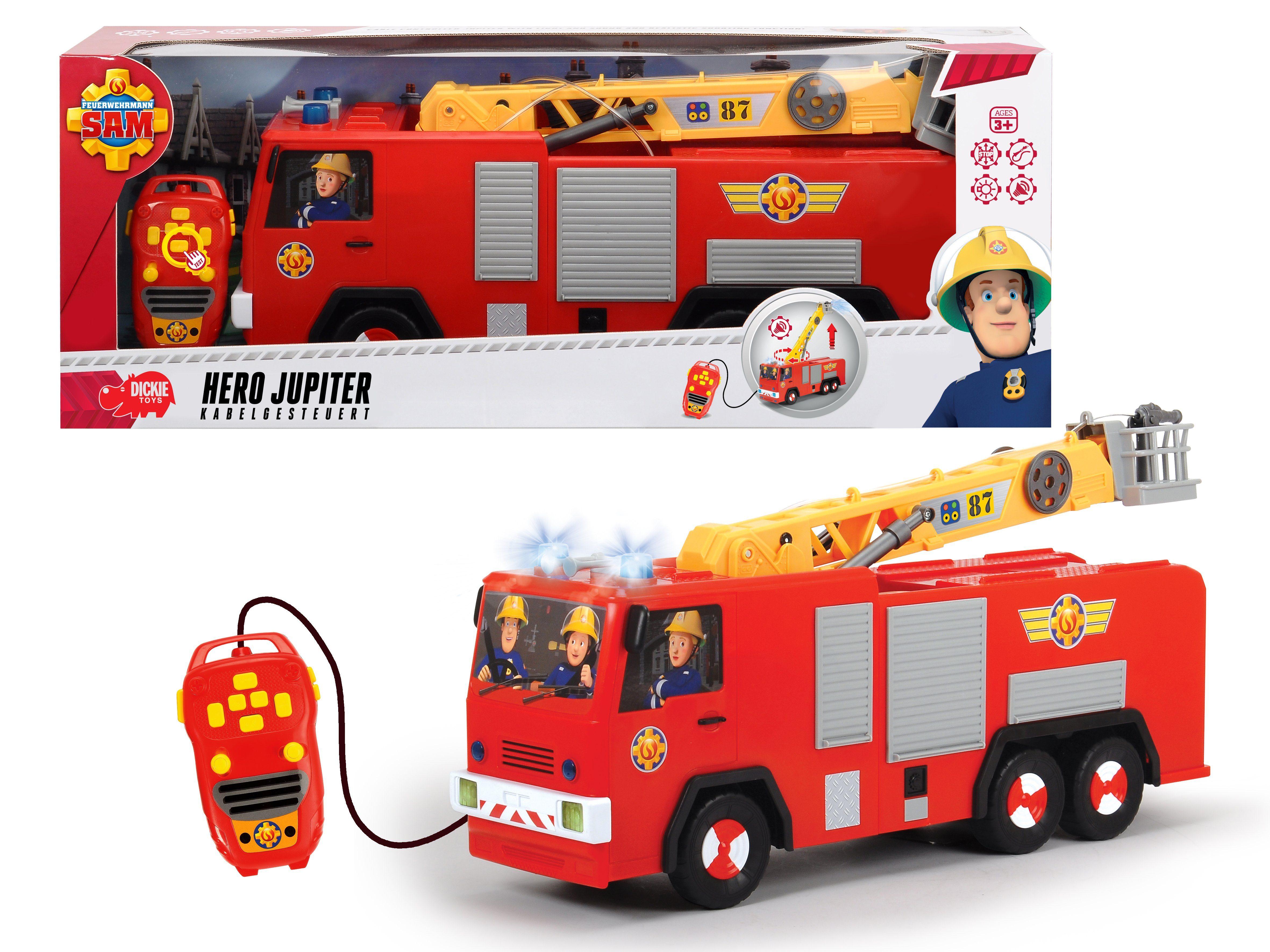 Dickie Toys Kabelgesteuertes Feuerwehrauto mit Wasserspritze, »Feuerwehrmann Sam, Hero Jupiter«