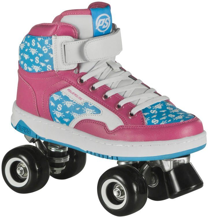 Powerslide Rollerskates, Damen, »Player Pink« in pink-weiß-blau