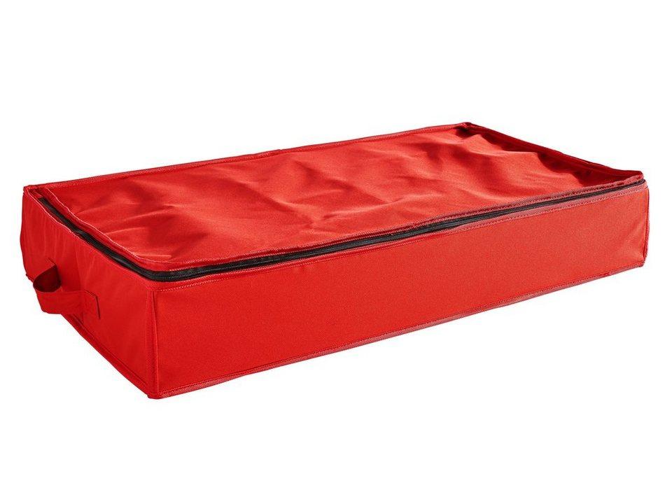 Kugel-Unterbettaufbewahrung in rot