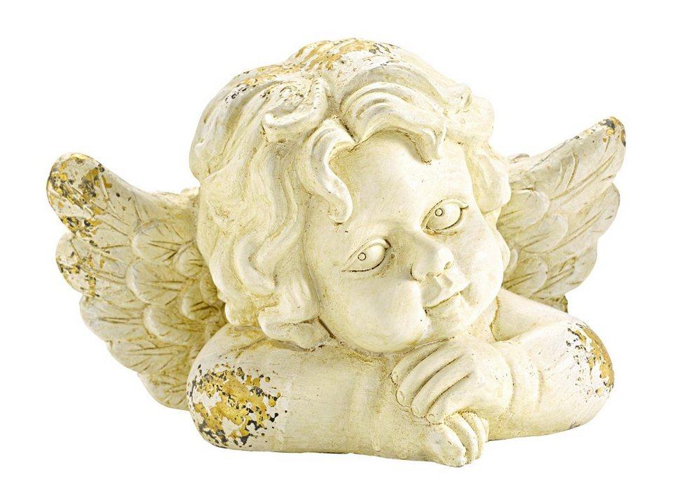 Deko-Engel in antikcreme/goldfarben