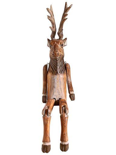 heine home Kantenhocker Elch aus massivem Holz