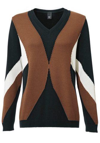 CASUAL пуловер интарсия gemustert