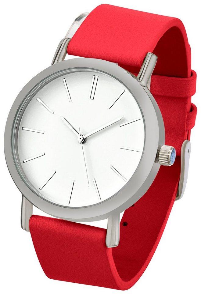 Heine Armbanduhr in rot