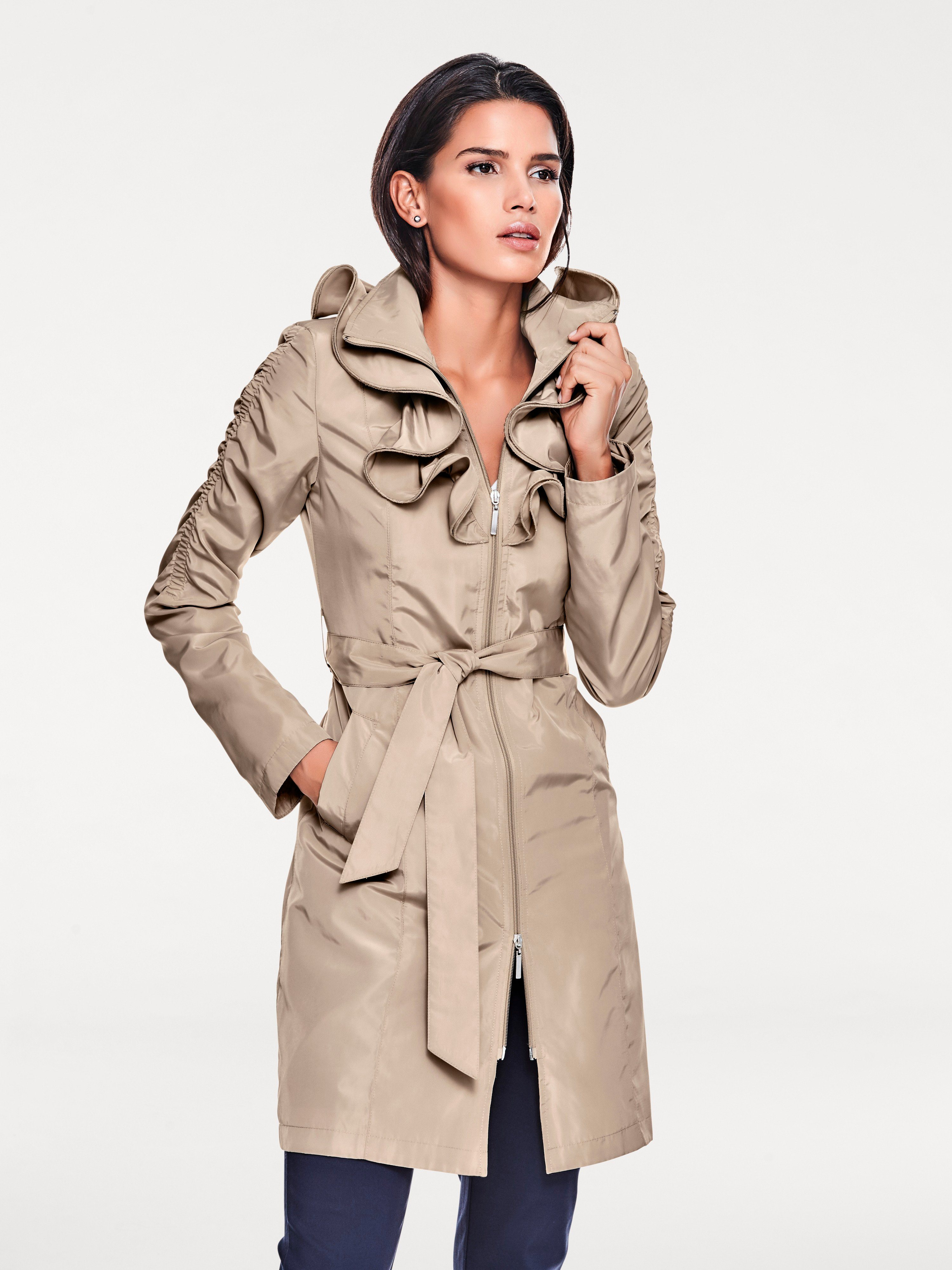 ASHLEY BROOKE by Heine Trenchcoat mit Rüschen | Bekleidung > Mäntel > Trenchcoats | Ca - Polyester | ASHLEY BROOKE by Heine