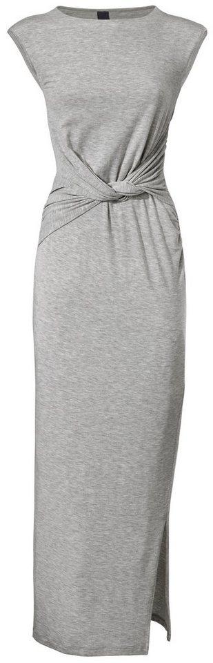 Jerseykleid in grau-melange