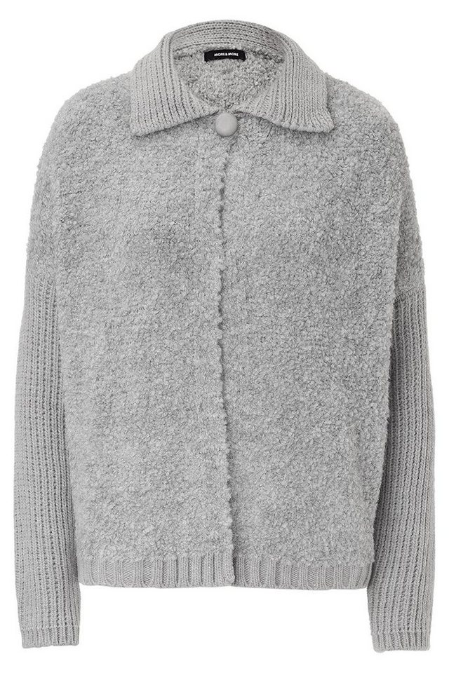MORE&MORE Bouclé-Cardigan in grau