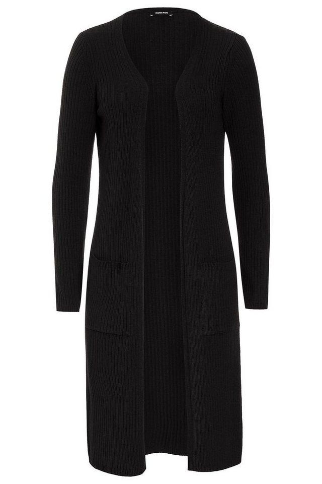 MORE&MORE Rippen-Cardigan, bordeaux in schwarz