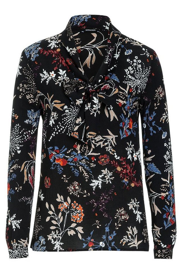 MORE&MORE Printbluse mit Schluppe in wie Farbmuster