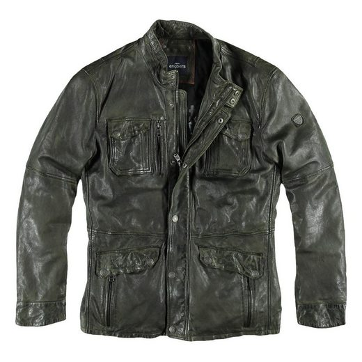 engbers Leder-Fieldjacket