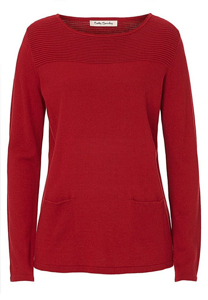 Betty Barclay Strickpullover in Dunkelrot - Rot