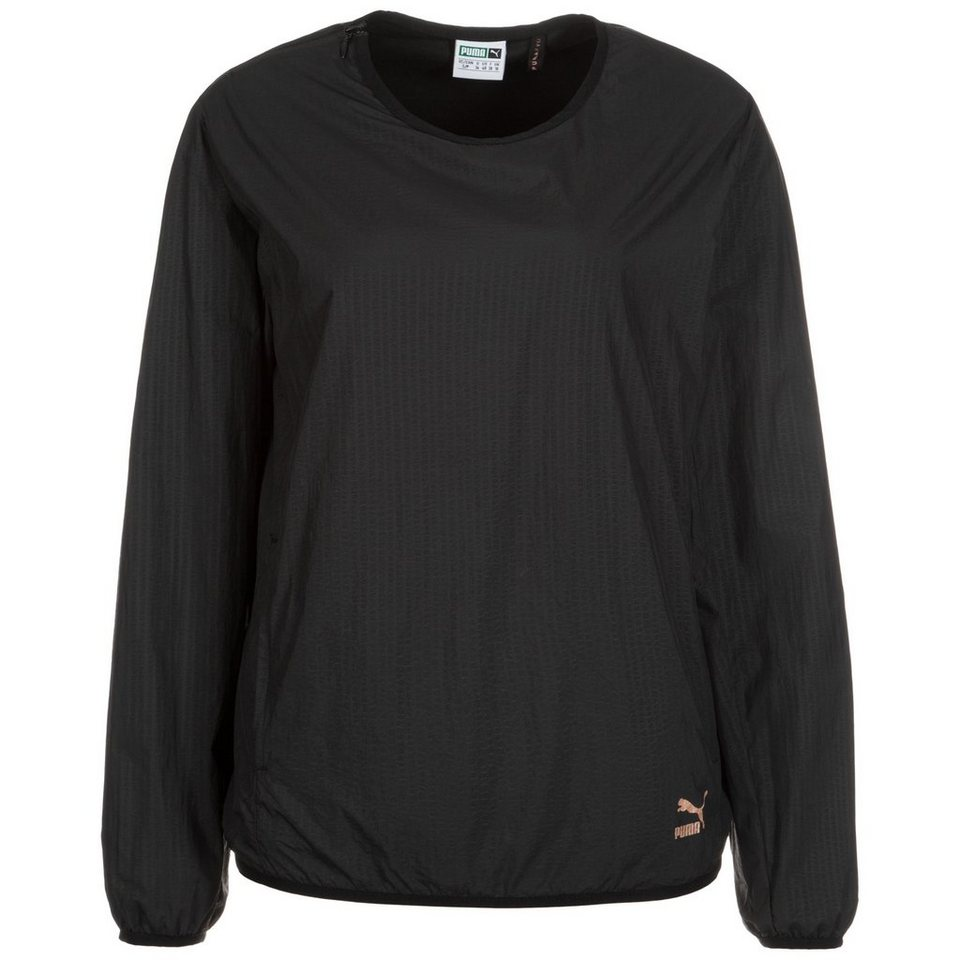 PUMA Evo Embossed Crew Sweatshirt Damen in schwarz