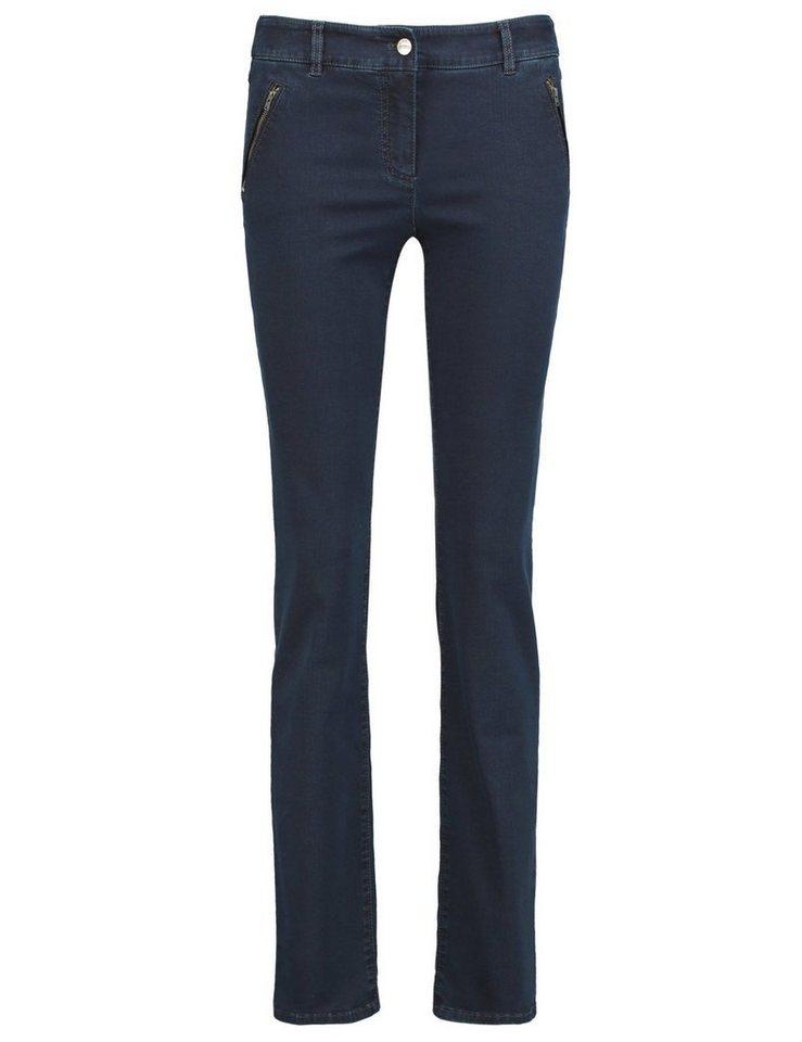 Gerry Weber Hose Jeans lang »Jeans mit gemäßigter Beinweite Roxane« in Dunkel Denim