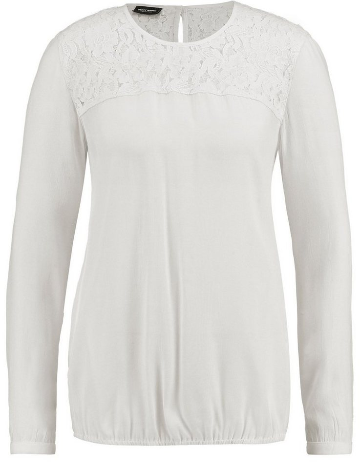 Gerry Weber Bluse Langarm »Langarmbluse mit Spitzendetail« in Off-White