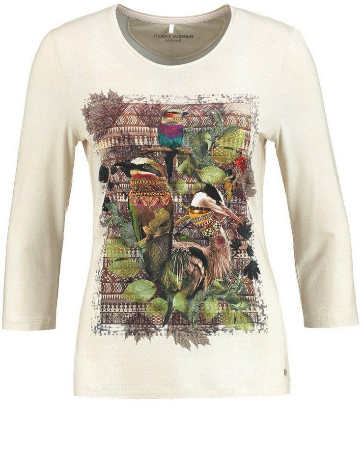 Gerry Weber T-Shirt 3/4 Arm »3/4 Arm Shirt mit Frontdruck« in Ecru-Weiß-Grau Druck
