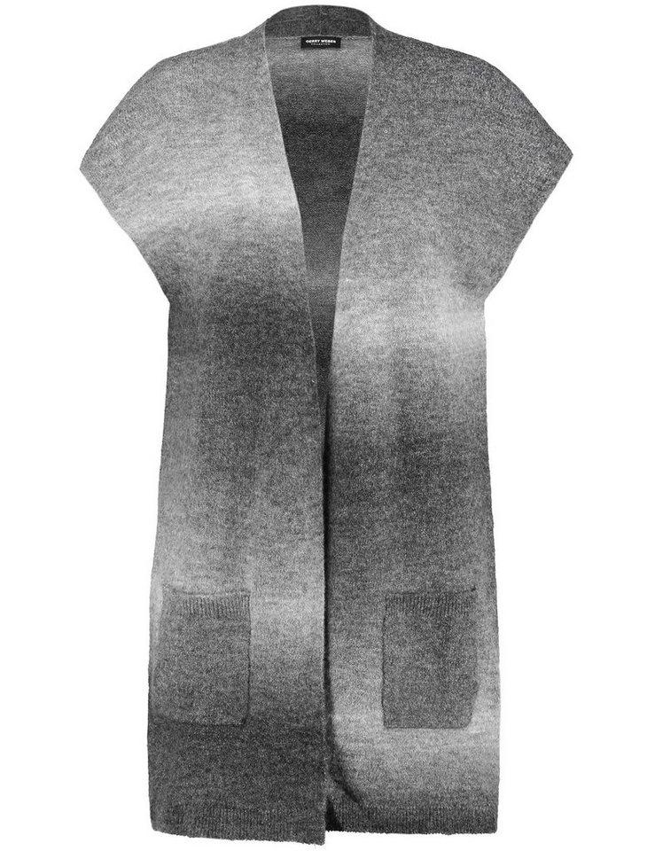Gerry Weber Weste Strick »Strickweste in Longform« in Grau Two Tone