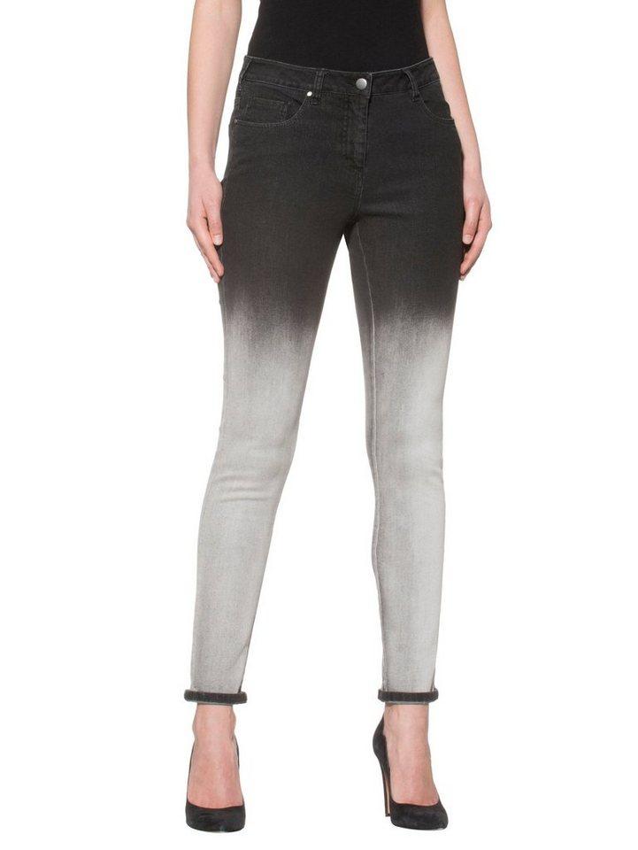 Alba Moda Jeans in schwarz/weiß