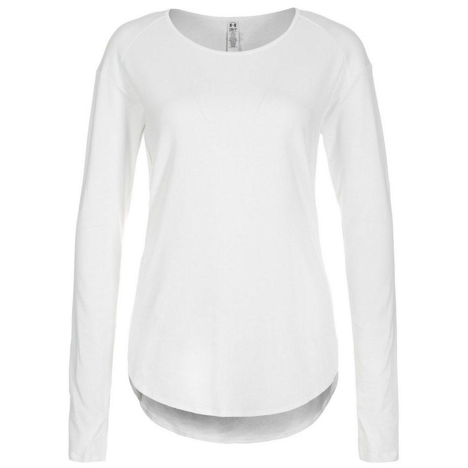 Under Armour AllSeasonGear Essential Trainingslongsleeve Damen in weiß