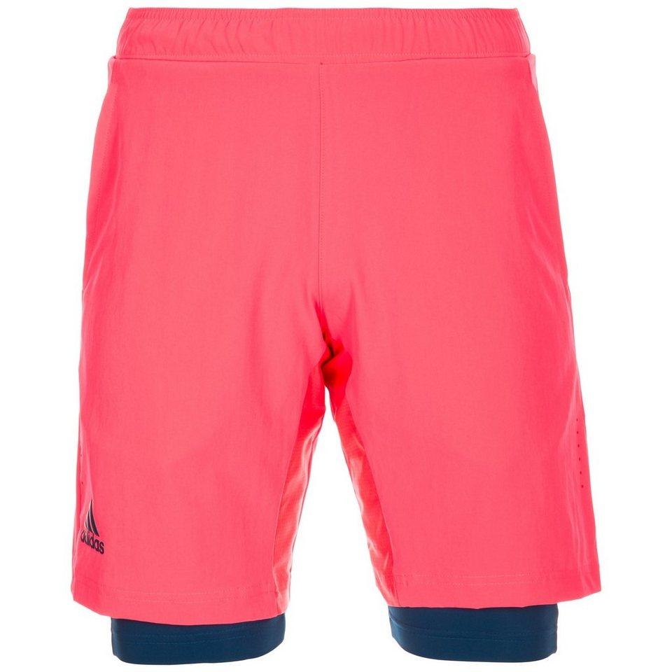 adidas Performance Multifaceted Pro Tennisshort Herren in neonrot / dunkelblau