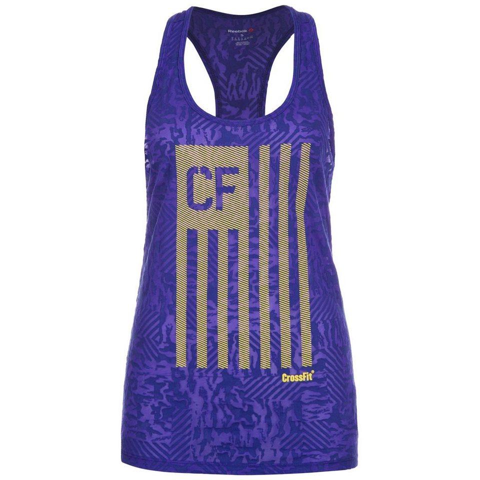 REEBOK CrossFit Flag Camo Burnout Trainingstank Damen in lila / gelb