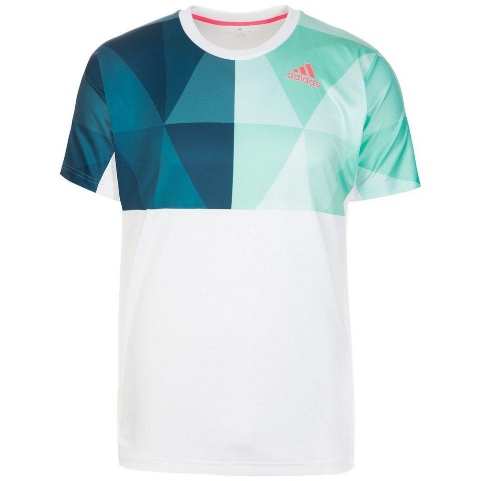 adidas Performance Multifaceted Pro Tennisshirt Herren in weiß / grün