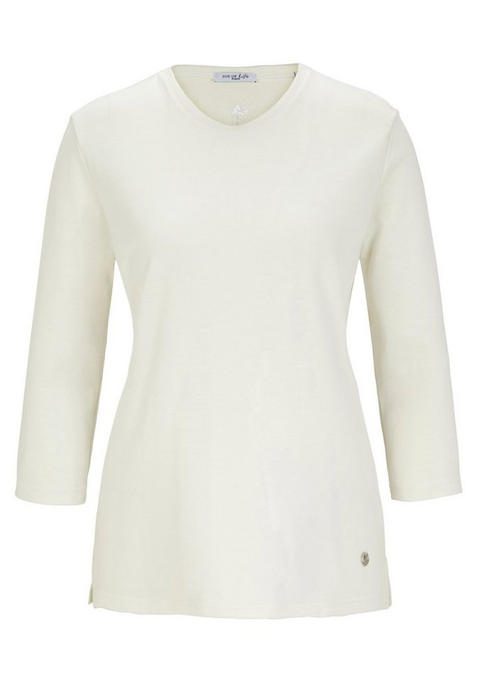 Hajo Basic Shirt in elfenbein