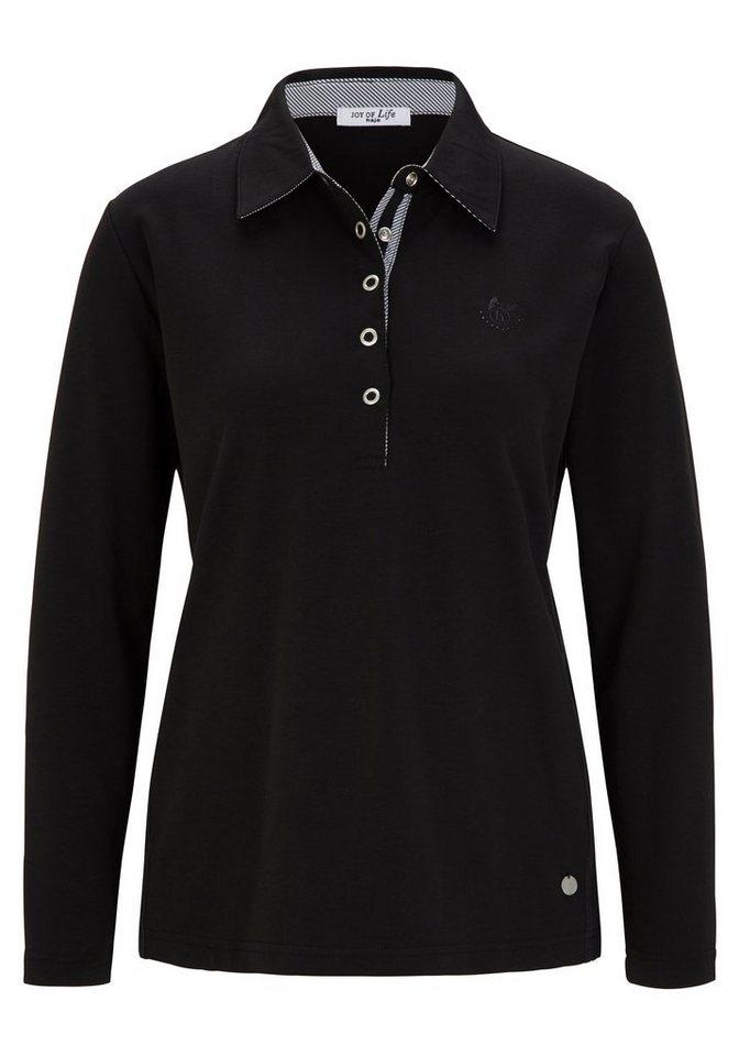 Hajo Basic Poloshirt in schwarz