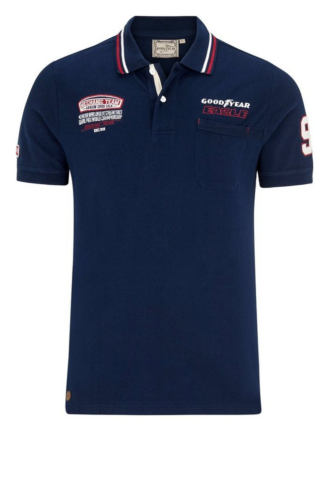 Goodyear Poloshirt »HILLS« in Dark Navy