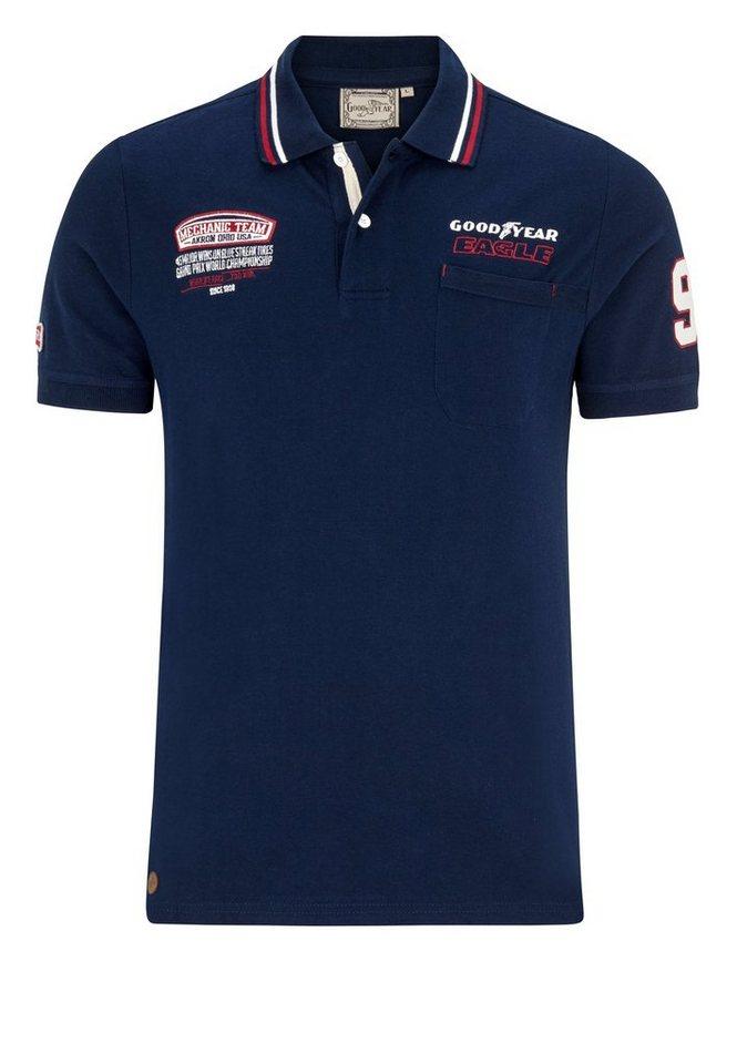Goodyear Poloshirt HILLS »HILLS« in Dark Navy
