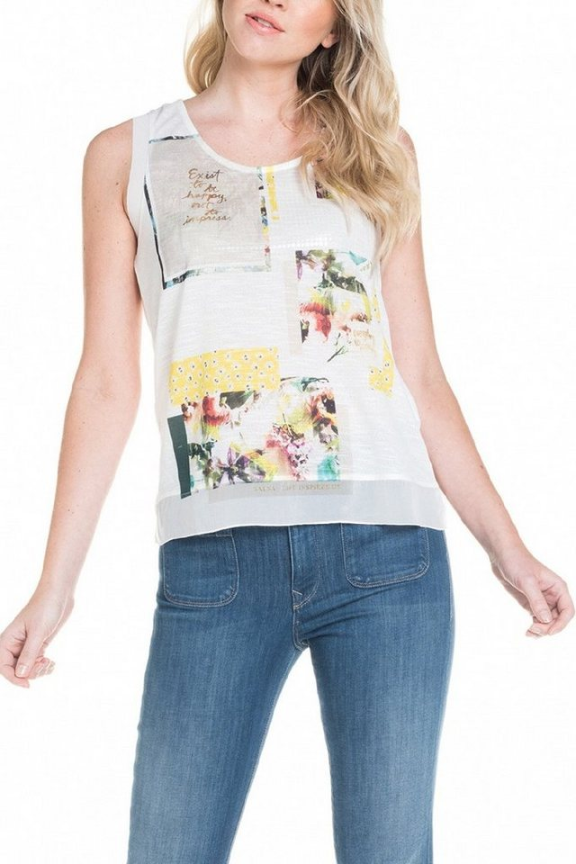 salsa jeans Top »PALM BAY« in White