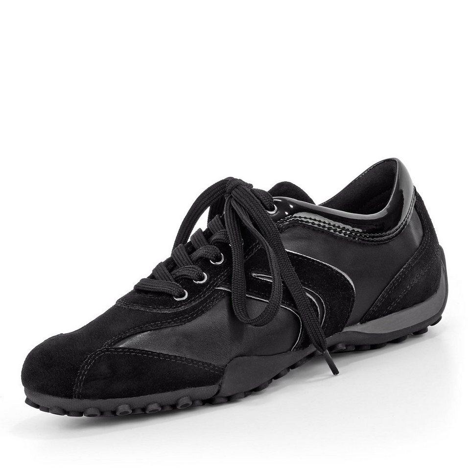 Geox Snake Sneaker in schwarz