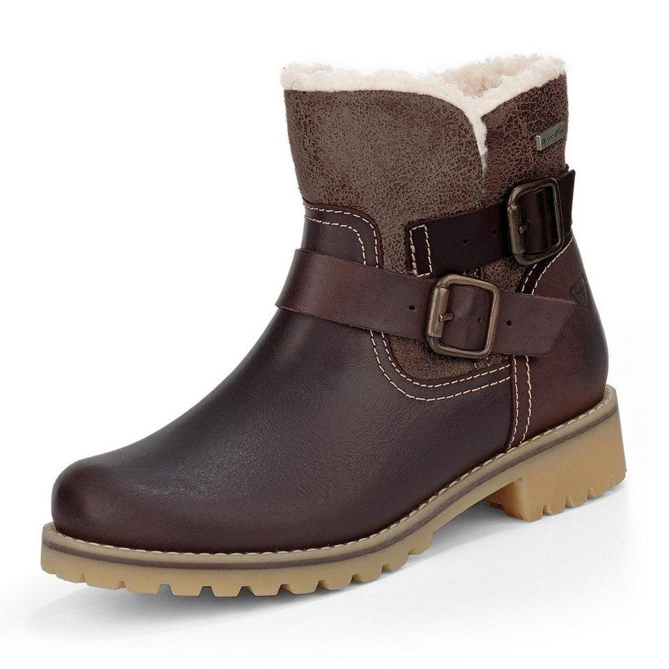 Tamaris Catser TEX-Boots in braun