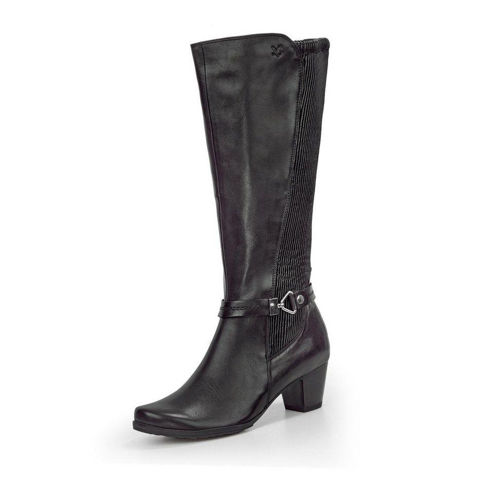 Caprice Weitschaft-Stiefel in schwarz