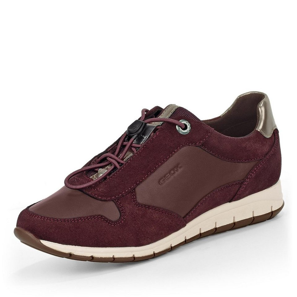 Geox Contact Sneaker in bordeaux