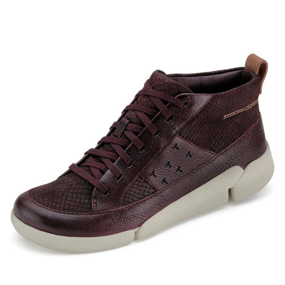 Clarks Tri Amber Sneaker in bordeaux