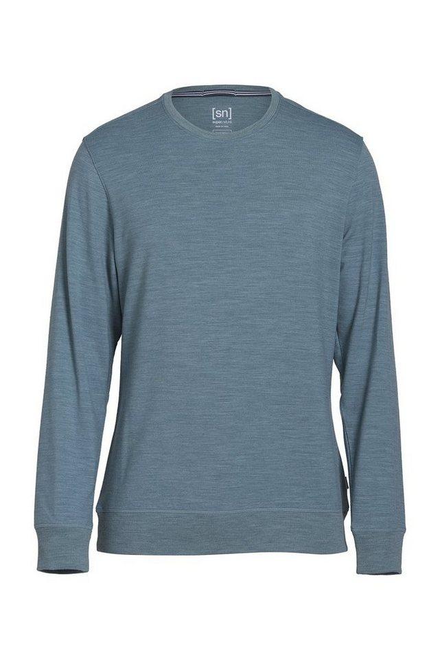 Super.Natural Merino Sweatshirt »M WATERTOWN CREW NECK« in THUNDER MEL