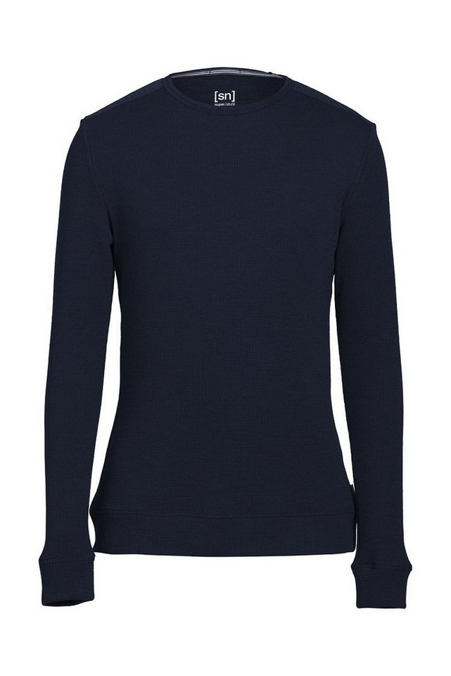 Super.Natural Merino Pullover »M JASPER CREWNECK« in NAVY BLAZER