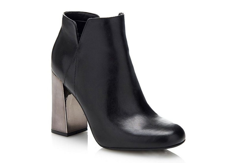 Guess ANKLE BOOT HELIO AUS LEDER in Schwarz