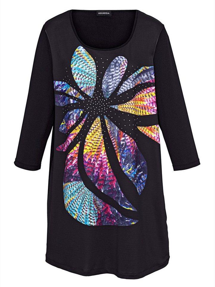 MIAMODA Longshirt in schwarz/multicolor