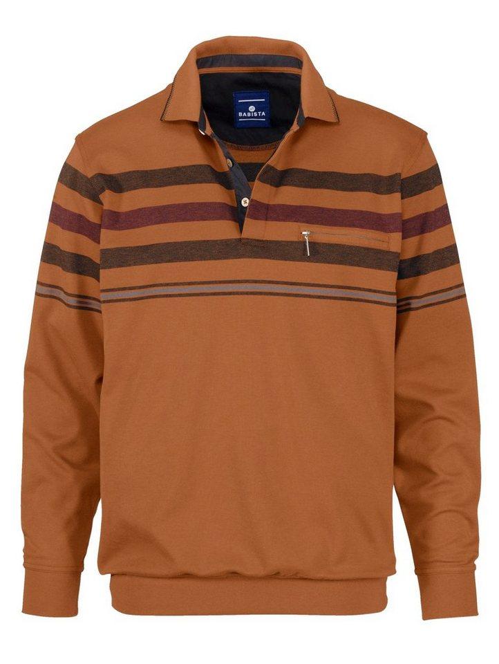 Babista Sweatshirt in bügelfreier Qualität in messingfarben-anth