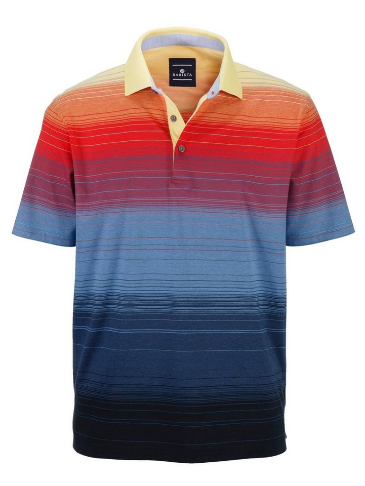 Babista Poloshirt mit optimalen Materialeigenschaften in blau-rot-gelb